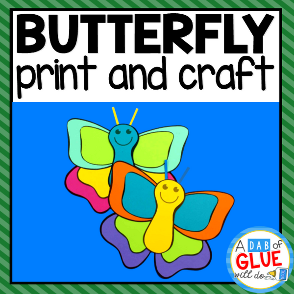 Butterfly Paper Craft Activity and Creative Writing
