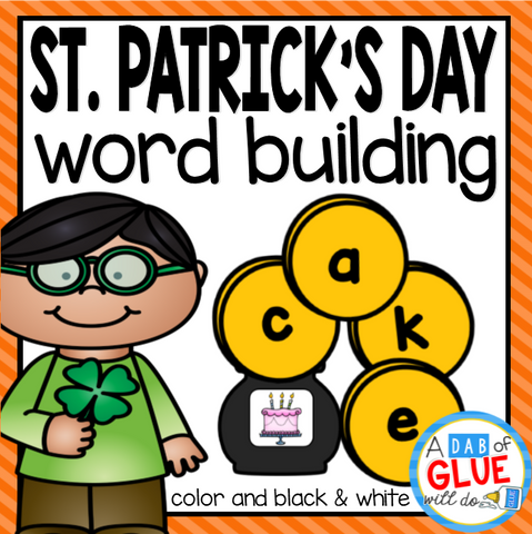 St. Patrick's Day Word Building Activity Bundle- CVC, CVCC, CVCE, and CCVC Words