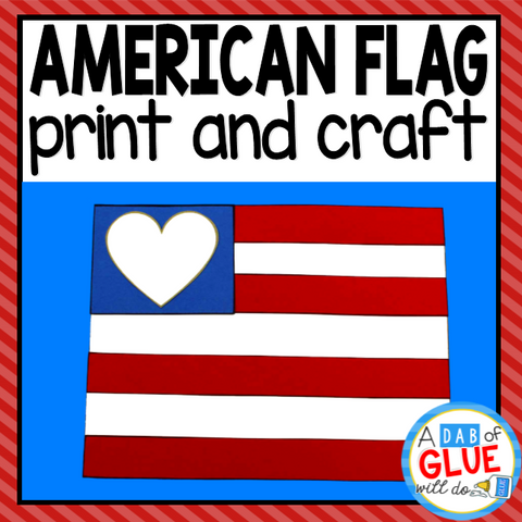 American Flag Craft and Creative Writing