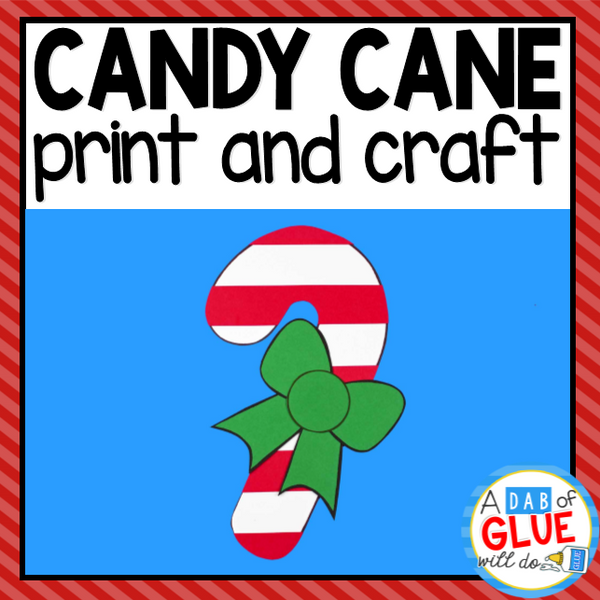 Candy Cane Paper Craft Activity and Creative Writing