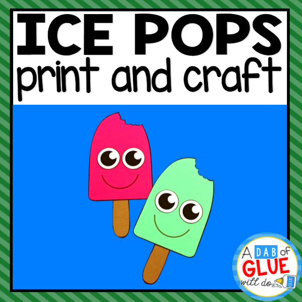 Ice Pop Paper Craft Activity and Creative Writing