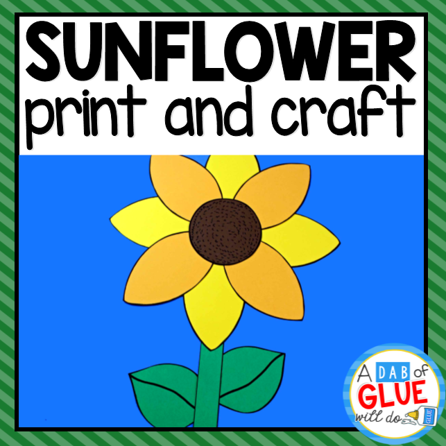 Sunflower Paper Craft Activity and Creative Writing