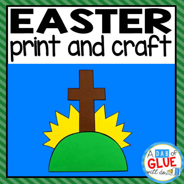 Easter Religious Paper Craft Activity and Creative Writing