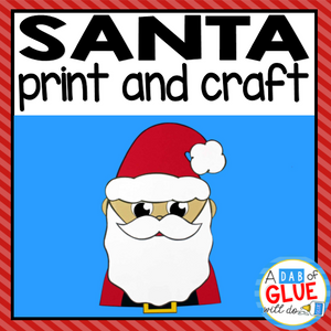 Santa Paper Craft Activity and Creative Writing