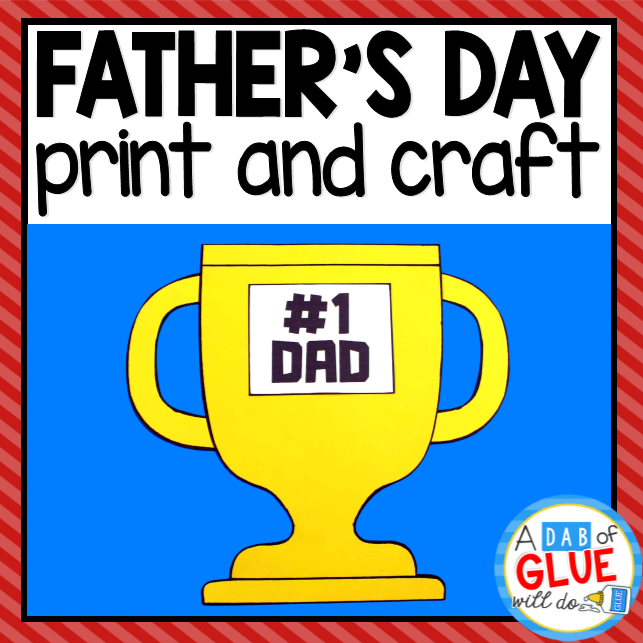 Father's Day Paper Craft Activity and Creative Writing