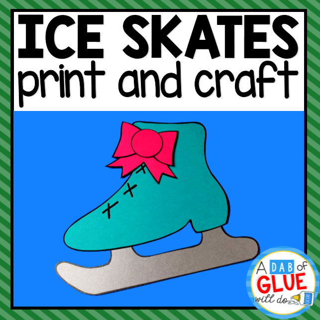 Ice Skate Template, Paper Craft Activity and Creative Writing