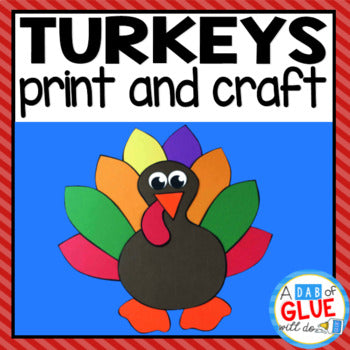 Thanksgiving Turkey Paper Craft Activity and Creative Writing