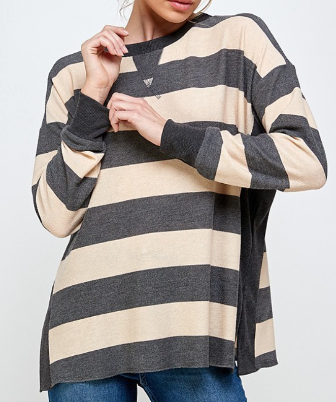 Love Neutral Stripes Top