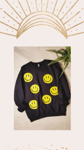 Smiley Face Pullover Sweatshirt