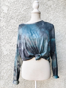 Blue Day Slouchy Top