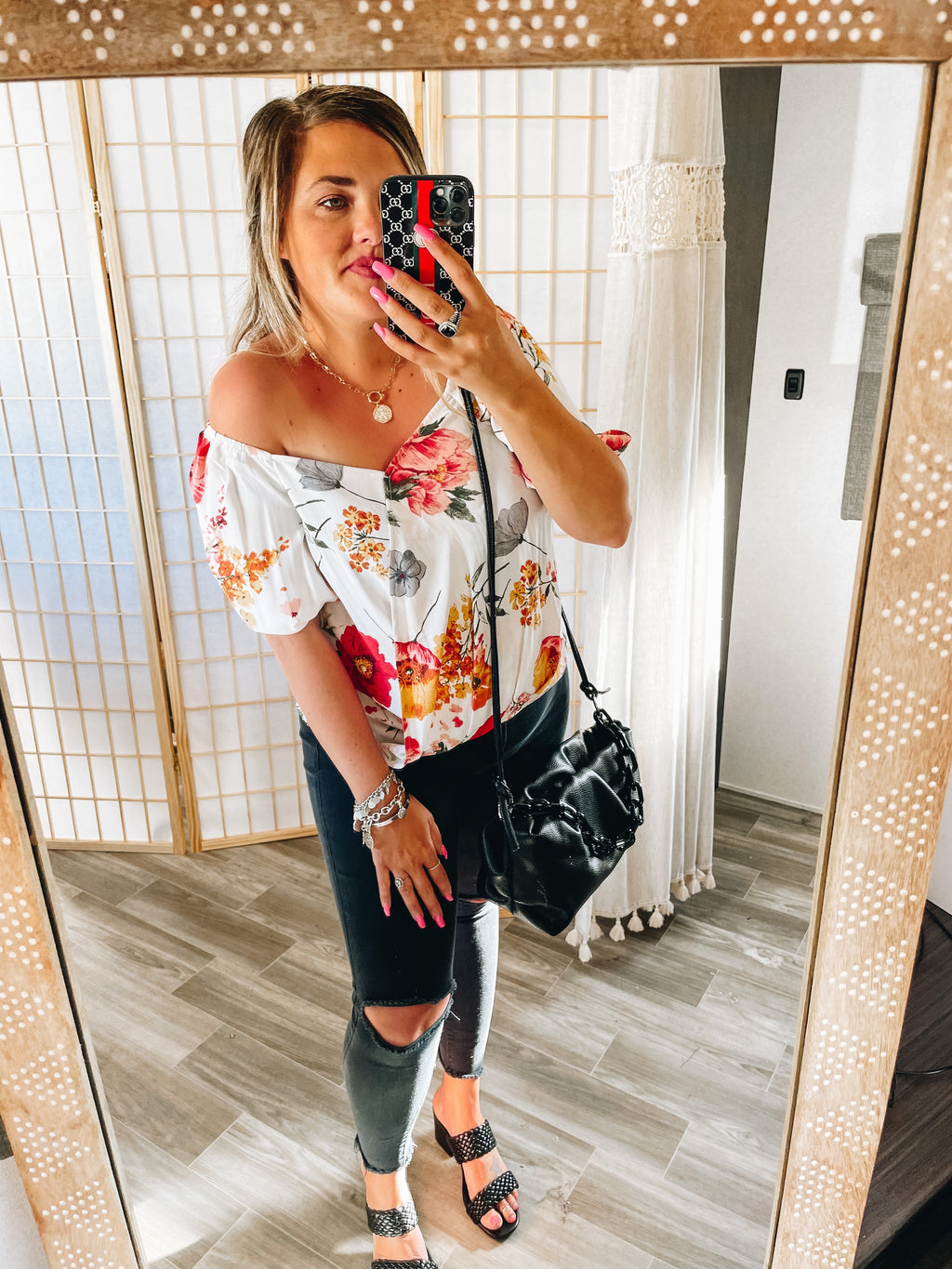 Flowers In Her Hair Blouse Top
