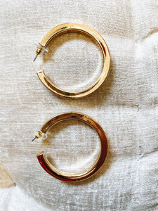 Large Chunky Gold Hoops