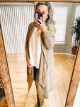 Cozy Mocha Draped Cardigan