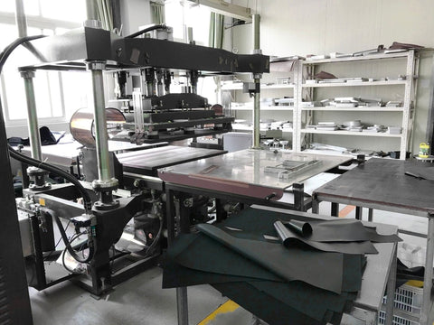Machine used for the production of backpacks