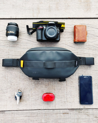 What enters DEW waist bag
