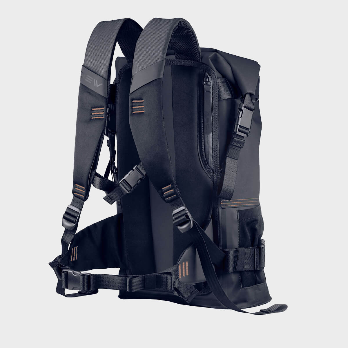 Straps Avail Black 25 L waterproof backpack
