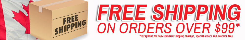 Most orders*** over $99* ship Free Canada-wide**