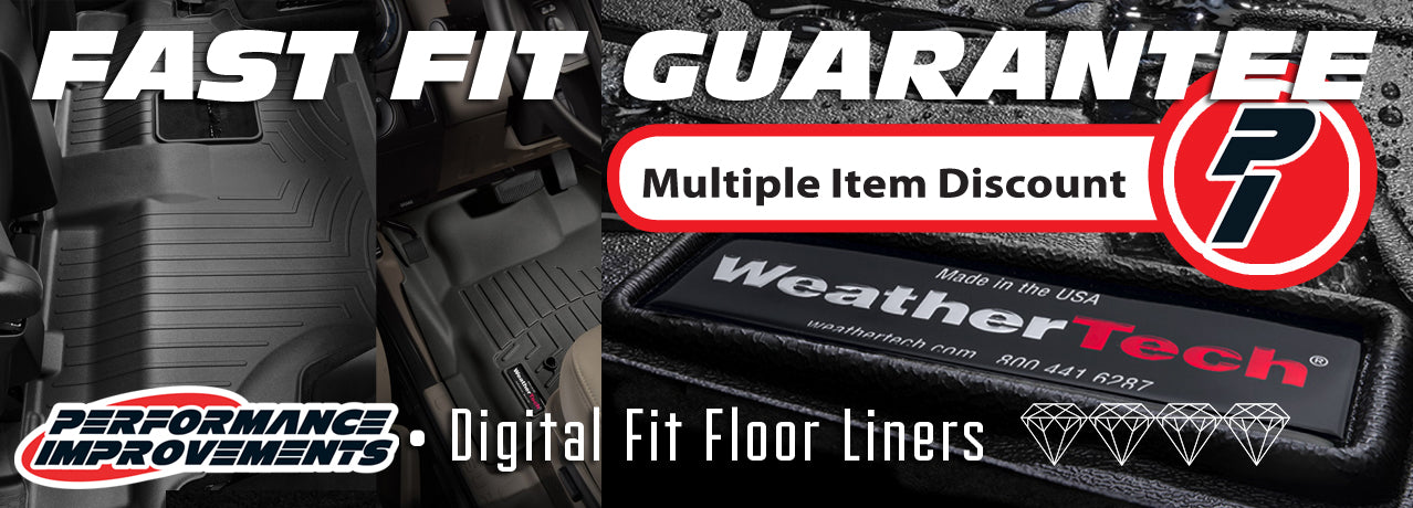 Performance Improvements is offering a FAST FIT GUARANTEE on Weathertech in Canada!