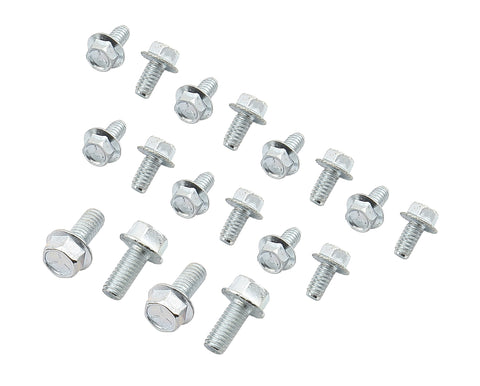 Mr Gasket 6085 Oil Pan Bolts - Small Block Chevy - 90 Degree V-6 and Olds V8
