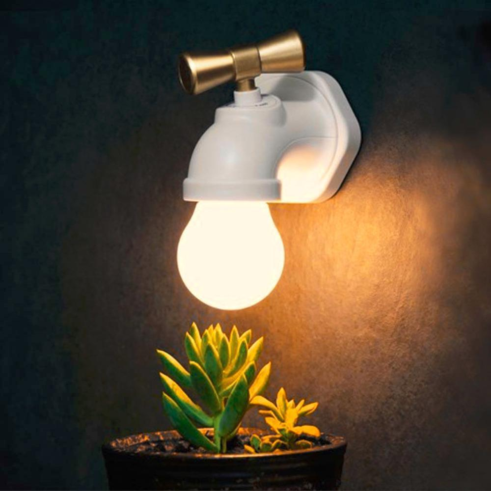 Rechargeable Unique Water Tap Shape Lamp
