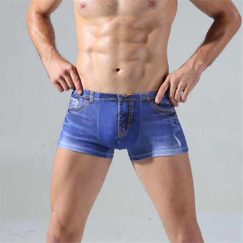 4 pcs Denim Jeans Sexy Underwear Casual