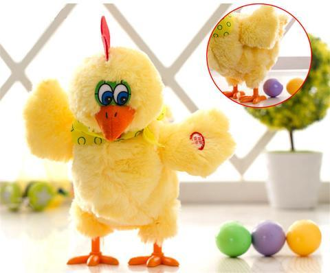 Egg Laying Animated Musical Chicken Plush