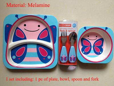 5pcs/set animal tableware set