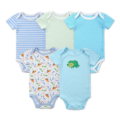 5 Pieces Baby Bodysuits Mommy Loves Me Onsies