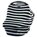 Car Seat Cover Canopy/ Nursing Cover Multi-Use Stretchy 3 in 1 Gift