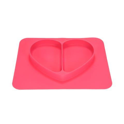 Heart Shaped Silicone Feeding Mat