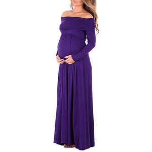 Off Shoulder Long Maternity Dresses