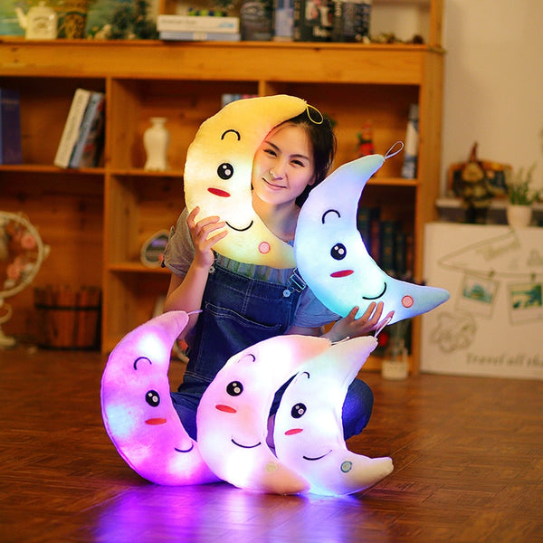 Cute Luminous Moon Pillow Plush Toy