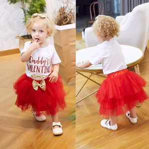 "Baby Girl Tutu ""Daddy's Valentine"" Outfit Set"