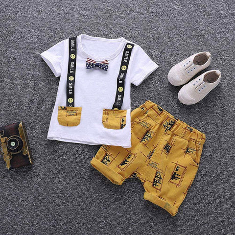 Boys Summer T-shirt and Trousers Clothing Set
