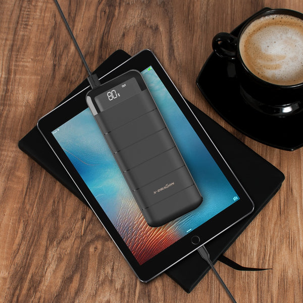 20100mAh Power Bank External Battery Charger Mobile Phone Battery Charger with Dual USB LCD Flashlight for Smartphone iphone