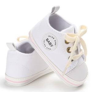 Baby First Walker Canvas Lace Up Shoes