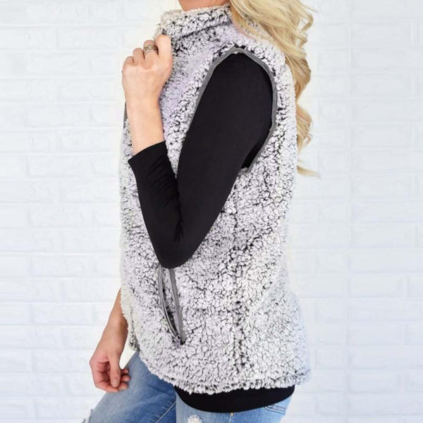 Women's Causal Winter Faux Fur Vest