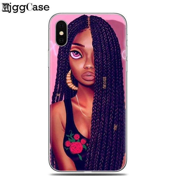 NEW STYLE! Poppin Black Queen Art Silicon Phone Case