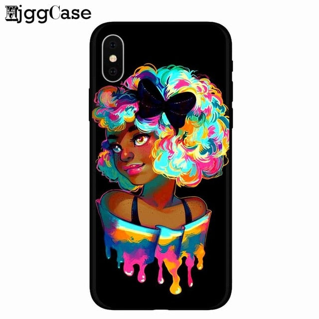 Queen Melanin Poppin Silicone Phone Cover Case- iPhone