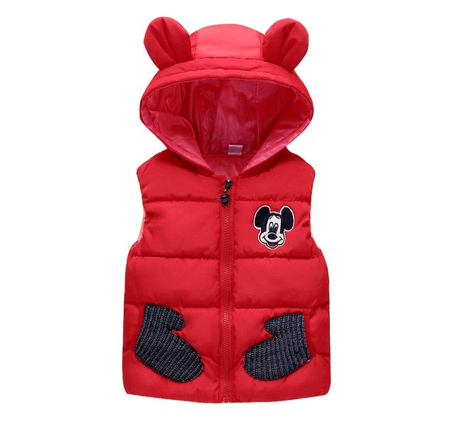 New Winter Mickey Vest for 1-5T Boys / Girls