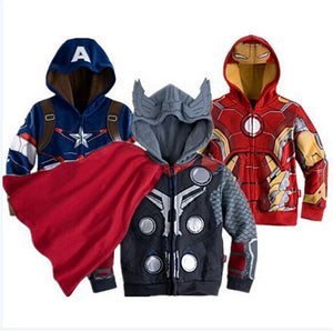 Avengers Childrens Hooded Sweatshirt Jacket