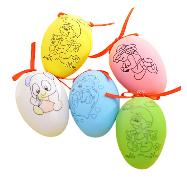 1PC DIY Colorful Painting Easter Eggs with 4pcs Painting Pens