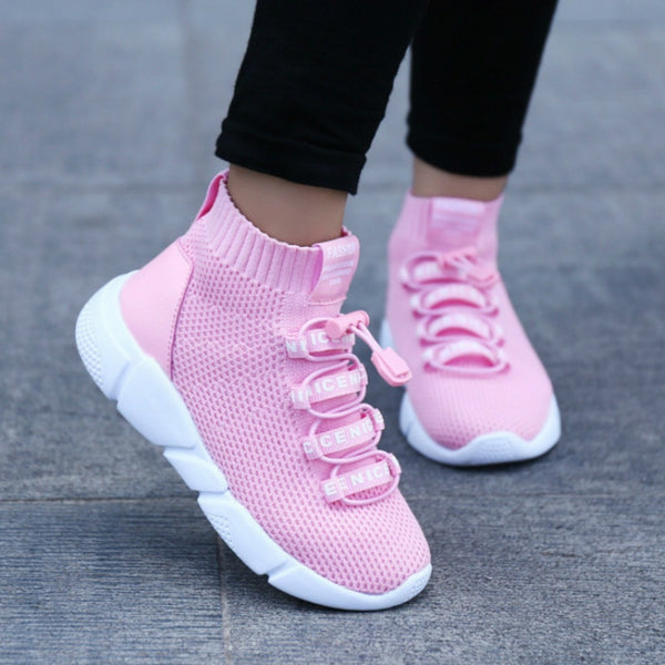 Children's High Top Ankle Sock Sneakers