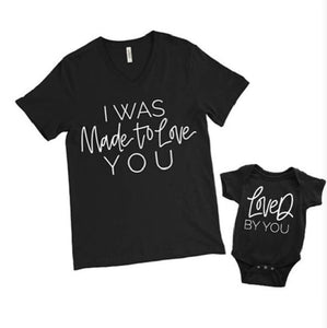 I was Made To Love You Mommy and Me Matching Outfit