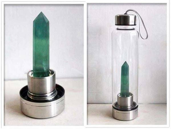 Natural crystal water bottle crystal energy cup