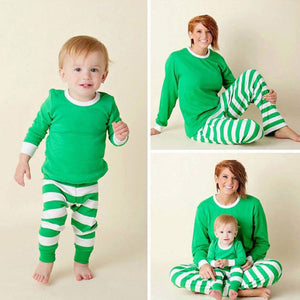 2019 Stripe Pajamas Mommy and Me Family Outfit