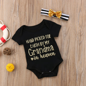Newborn/Baby Hand picked from Grandpa in Heaven Bodysuit