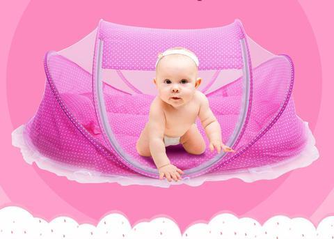 Portable Crib With Mosquito Net