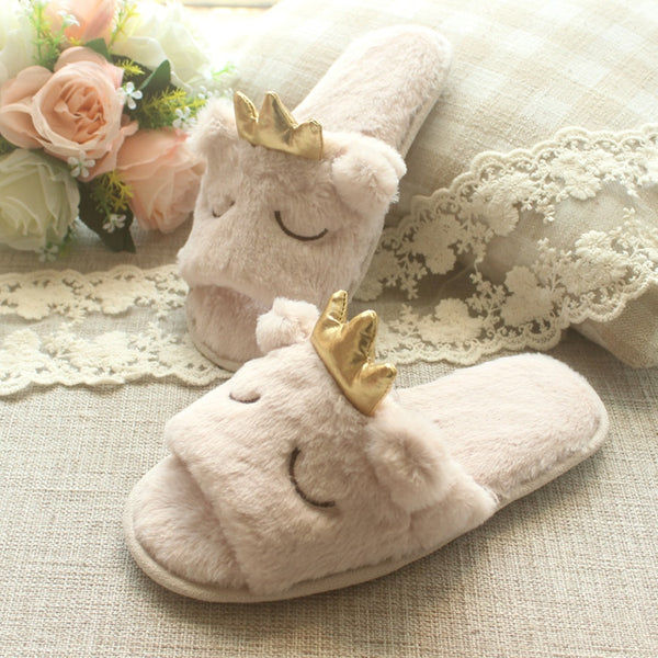 Ladies Spring Comfort Open Toe Indoor Cute Slippers