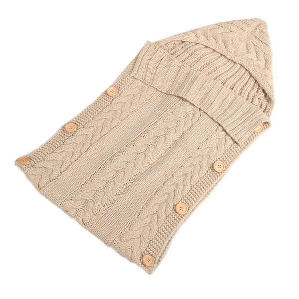 Baby Swaddle Wrap Warm Wool Crochet Knitted Swaddling Blanket